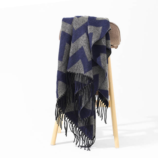 0a39173a158c8 2018 Women's Winter Scarf Female Cashmere Poncho with Tassels Vintage Large  Warm Blanket Shawls Cape Cashmere