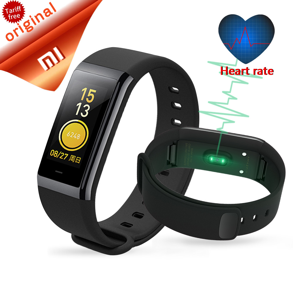 Original Xiaomi Huami Amazfit Cor Smart Band Midong Heart Rate Smartband 1.23 Inch Color Screen Bluetooth Waterproof Wristbands huami amazfit smartwatch gps amazfit sports smart watch bluetooth wifi dual 512mb 4gb heart rate monitor for xiaomi ios english