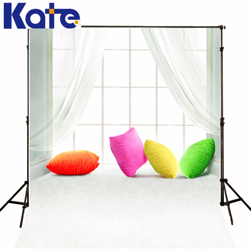 Kate Digital Printing Photography Backdrop Indoor White Curtain  Colorful Pillow Photography Background For Children Backdrops сумка kate spade new york wkru2816 kate spade hanna