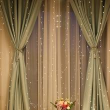 3 м светодиодные гирлянды USB медный провод дистанционного фестиваля Рождество Свадьба бар окно занавес Открытый Патио Украшение Гирлянда Свет