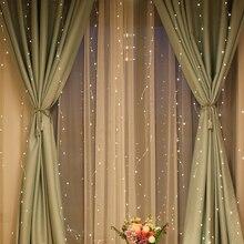 3M LED מחרוזת אורות USB נחושת חוט מרחוק פסטיבל חג המולד חתונה בר חלון וילון חיצוני פטיו קישוט מחרוזת אור