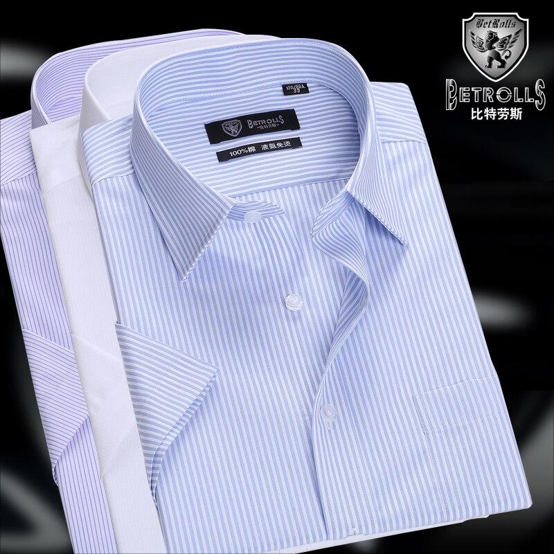 Blue Chemise Neuf Non Chemises 2016 Pour Coton Fer À D'affaires Manches Courtes white purple Décontractée Hommes En Ft6dqgdxw