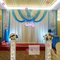 Бесплатная DHL свадебный занавес драп ледяной шелк свадебный фон 3 м * 6 м (10 футов * 20 футов) Свадебные украшения