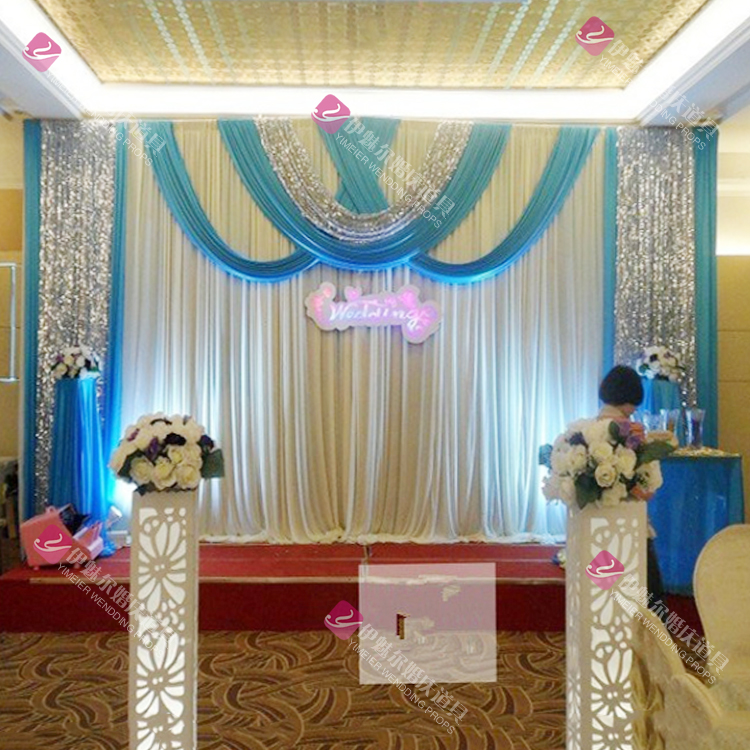 Free DHL Wedding Swag Curtain Drap Ice Silk Wedding Backdrop 3m*6m(10ft*20ft) Wedding Decorations