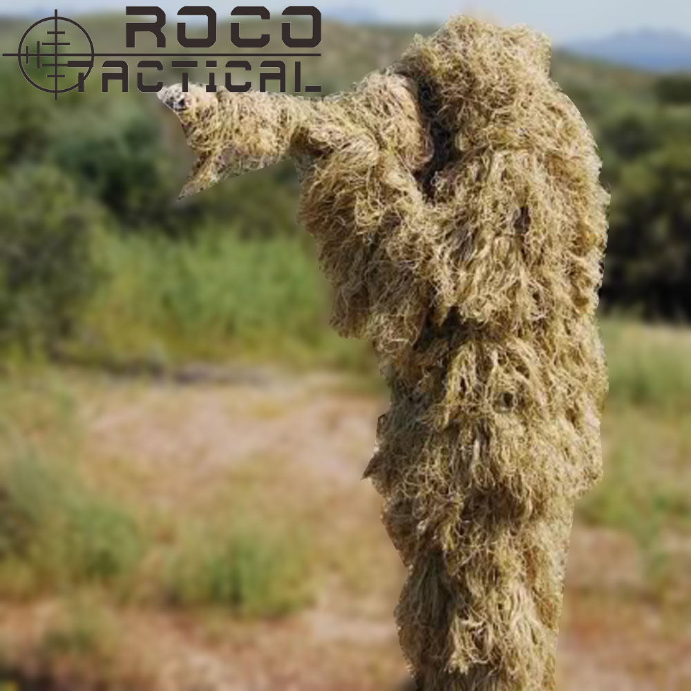 ФОТО ROCOTACTICAL Advanced 3D Camouflage Suit Lightweight Military Sniper Ghillie Suit Airsoft Paintball Wargame Camo Suit Woodland