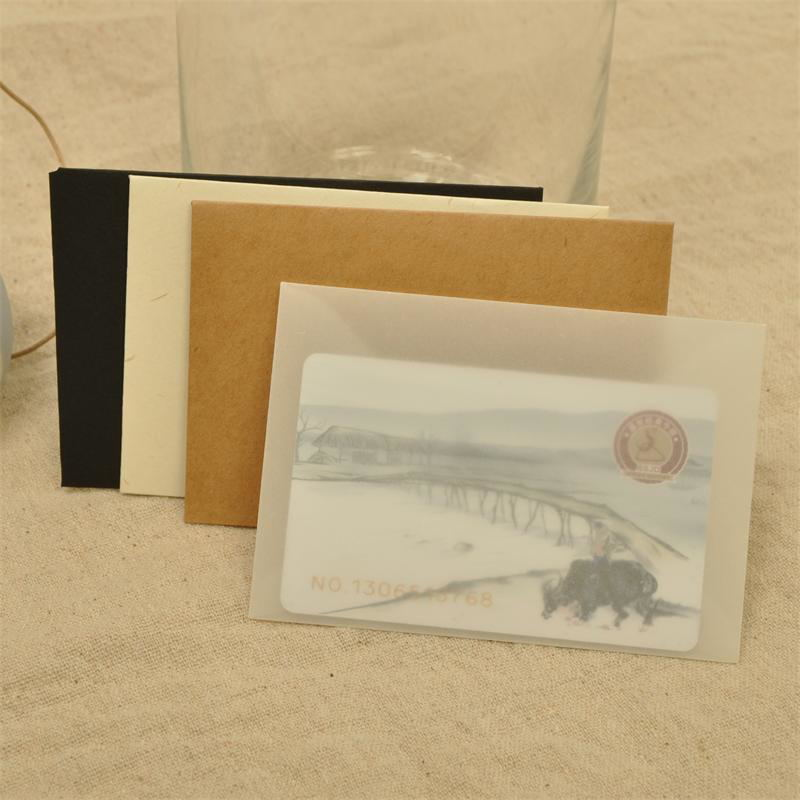 Bank Card Invitation Envelope Translucent Sulfuric Acid Paper Pack Card Bag 50pcs/lot 10*7cm Mini Bank Card Bag Small Envelope
