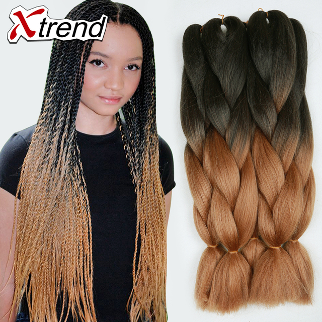Braids Synthetic Hair Extensions 24inchsenegalese Twist Braiding Toyokalon Yaky Straight Braid Two Tone