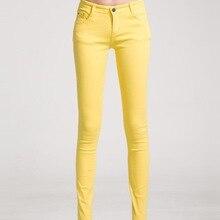Femmes Jeans Femme Denim Pantalon De Couleur de Sucrerie Femmes Jeans Donna Stretch  Bas Feminino Skinny a38f7156da5