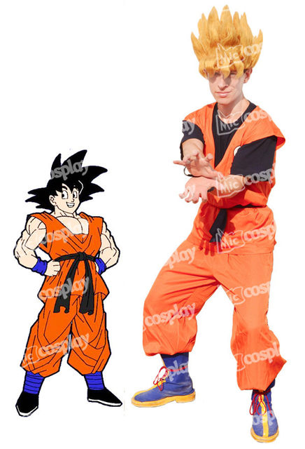 anime new hot dragon ball son goku cosplay halloween party clothing costume z dbz cosplay outfit clothes