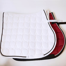 The saddle cushion is white and shockproof Saddle pad sweat hair thickening drawer white saddle horse harness 16(China)