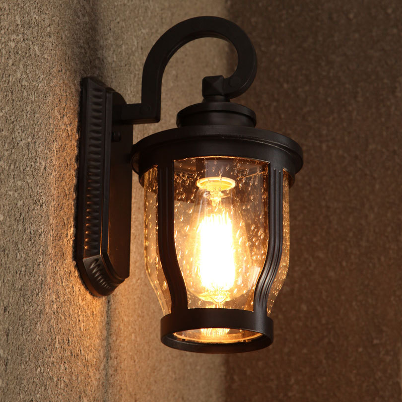 Retro Iluminacion Impermeable Al Aire Libre Lamparas De Pared 110 V - Lmparas-de-pared
