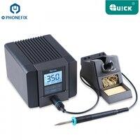 PHONEFIX QUICK TS1200A Бессвинцовая быстрая паяльная станция светодиодный дисплей с одним паяльником для ремонта материнская плата телефона