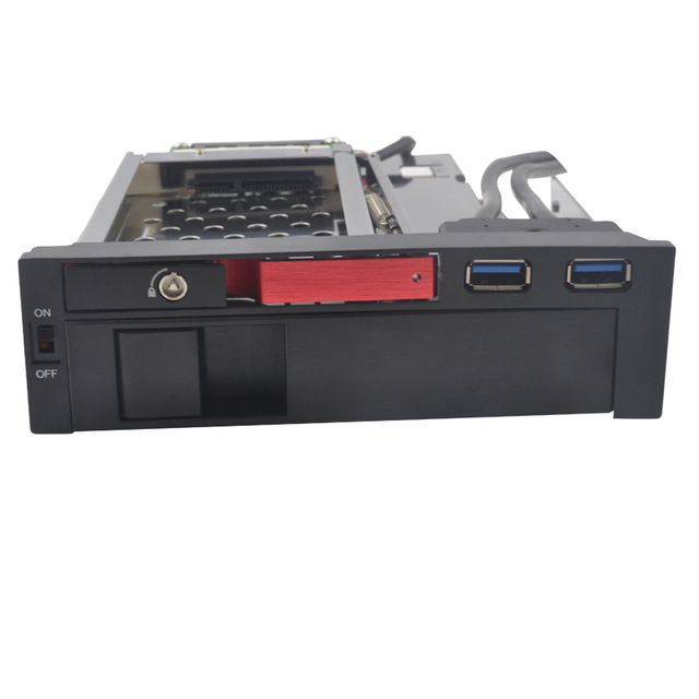 2.5+ 3.5in SATA aluminum  panel hdd mobile rack with USB3.0  ports