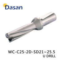 WC SP C25 2D 21 22 23 24 25.5 mm Indexable U Drilling FAST DRILL Bit Drilling Tool Refer To WCMT insert