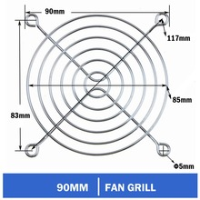 3pcs Gdstime 90mm 9cm CPU Computer PC Latop Fan Grills Iron Cover Case Metal Finger Guard For 9025 9225 3 pieces gdstime 6cm 60mm fan guard pc cpu latop computer cooling fan metal iron grill cover 6010 6015 6020 6028