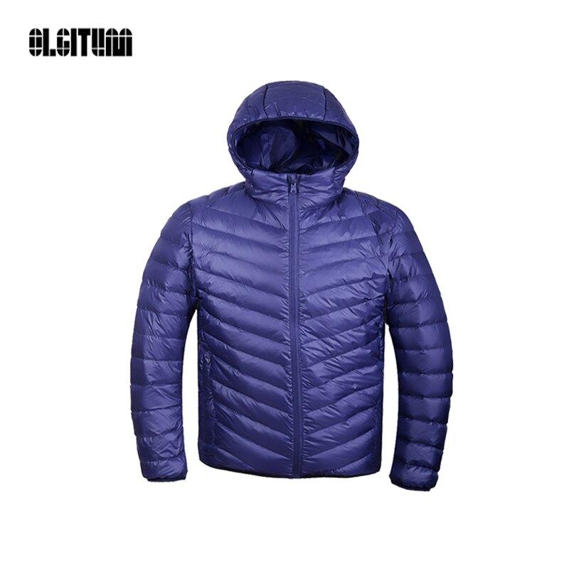 Spring & Winter Parka Coat Ultralight Jacket 95% Duck Down Winter men Jacket Men Down Jacket Outdoors Collar Tops