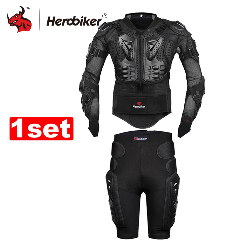 2016 New Moto Motorcross Racing Motorcycle Body Armor Protective Jacket Gears Short Pants Black And Red