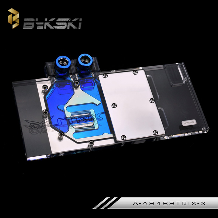 Bykski A-AS48STRIX-X Full Cover Graphics Card Water Cooling Block for ASUS ROG STRIX-RX480-O8G-Gaming/ROG STRIX-RX470-4G-Gaming цена и фото