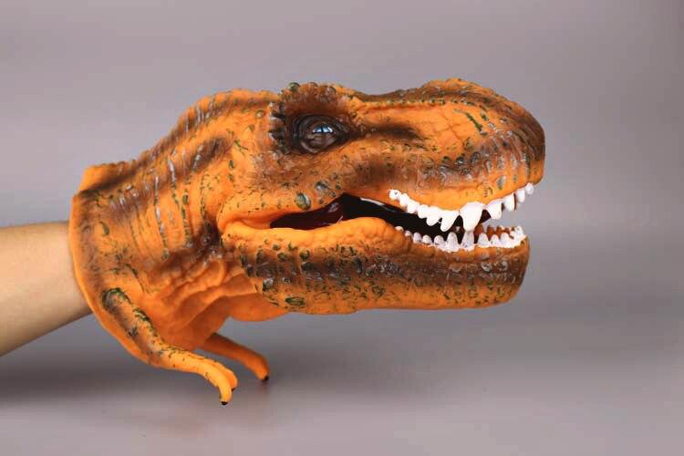 Ультра реалистичные динозавров Руку Кукол Хэллоуин игрушки детям Образование игрушка Рождественский подарок высокое качество кукла родит...