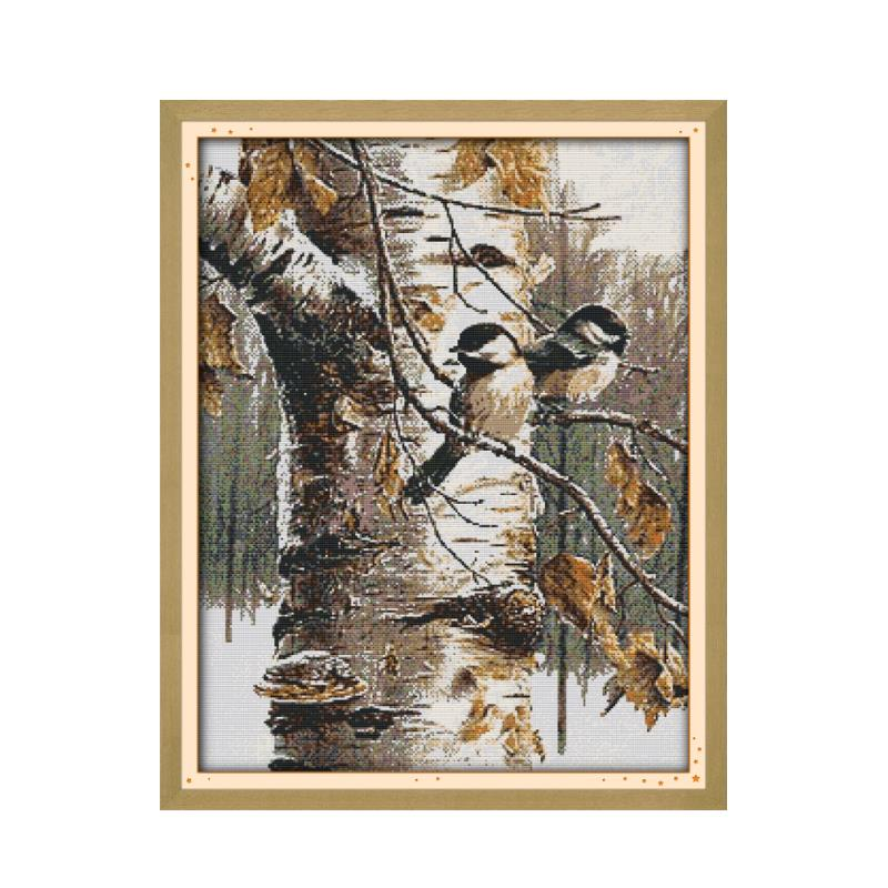 Animal Bird Autumn View Furniture Sewing Cross Stitch Kit Embroidery Diy Handmade Decorative Paintings