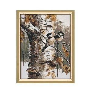 Image 1 - الحيوان الطيور الخريف عرض الأثاث الخياطة المطبوعة عبر الابره عدة التطريز Diy بها بنفسك اليدوية لوحات الزخرفية DMC الإبرة