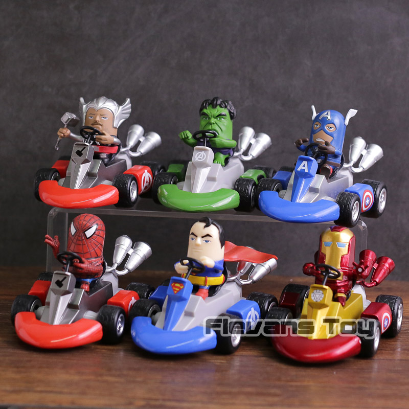Marvel Universe Characters Avengers Infinity War Pullback Car Kids Toy Figure
