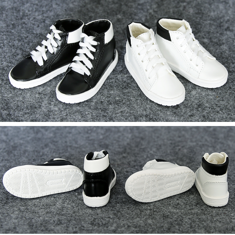 1Pair New SD BJD Dolll Accessories White Black BJD Doll Shoes 1/3 1/4 1pair 1 3 1 4 bjd doll shoes black casual shoes for bjd doll