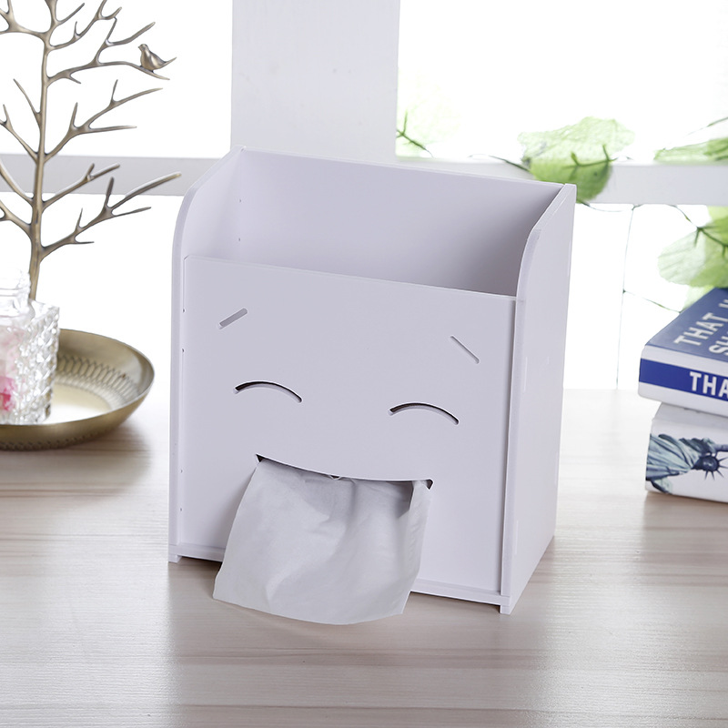 Creative DIY Storage Box Multifunction Tissue Box Cosmetic Box Container Makeup Organizer Desktop Organizer 1PC