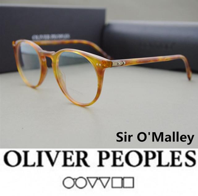 Óculos Vintage оптические очки кадр oliver peoples OV5256 Сэр О 'Мэлли очки кадр óculos де грау omalley очки кадры