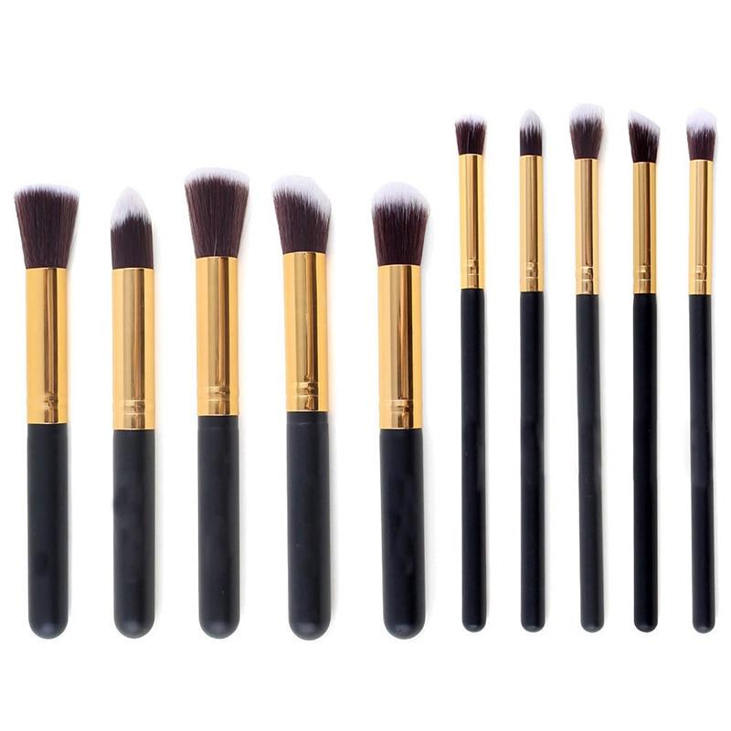 Kaizm 10 шт. набор кистей для макияжа Румяна Фонд Тени для век кисти мягкие волосы Красота Косметические кисти для макияжа 10 шт. кисть
