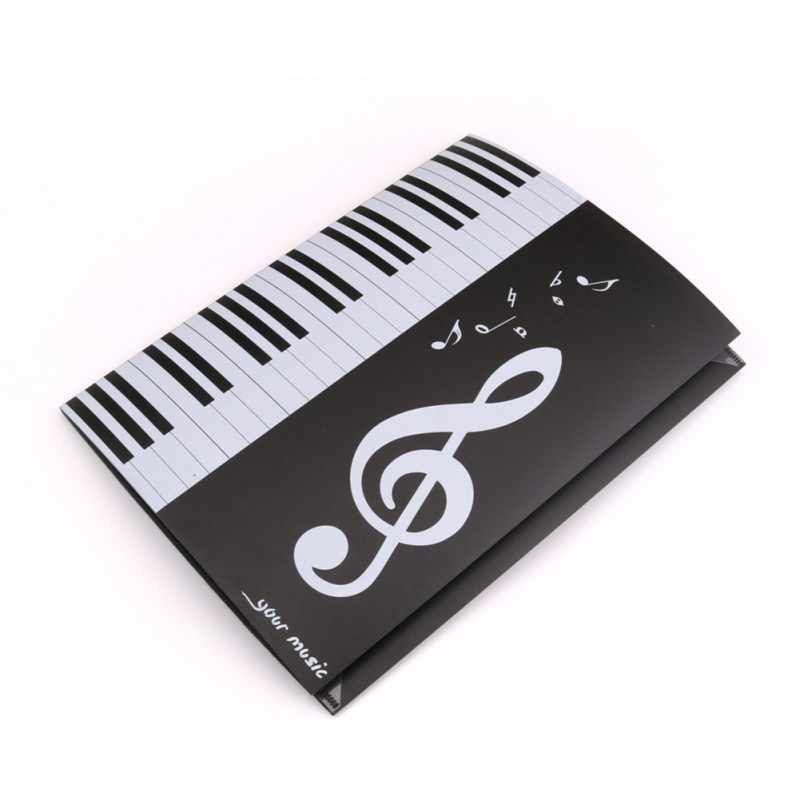 Hot! smooth Expanded Sheet Music Score Folder A4 Size Document Expanded piano score folder  Accessories