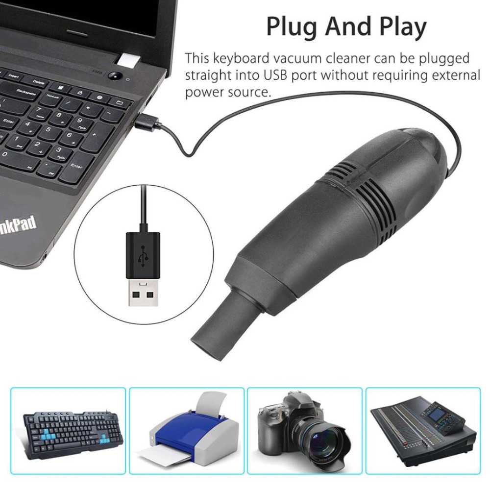 Mini USB Computer Dust Collector Keyboard Vacuum Sweeper Cleaning Kits Tools For Keyboard