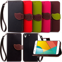 Elegant Leaf Design PU leather Wallet Case For Huawei honor 4C 4X 4A Y6 Wallet Card Holder stand Flip Mobile Phone Bags cover