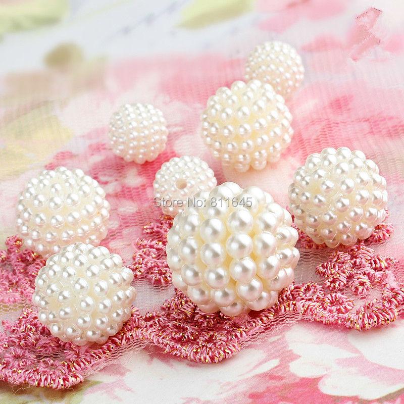 Nyheter Round Kawaii Pärlor ABS Pearl Ivory Color Pearl Imitation - Märkessmycken