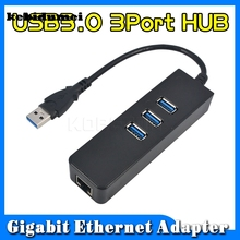 kebidumei 10/100/1000 Mbps 3 Ports USB 3.0 Hub To RJ45 Gigabit Ethernet LAN Wired Network Adapter For Windows Mac