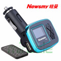 New arrival original newsmy C25 car MP3 player AUX U disk car chargers, cigarette lighter FM free shipping