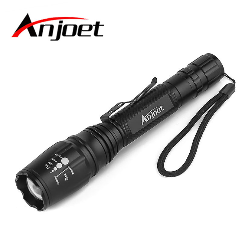Super Waterproof XML-T6 LED Tactical Flashlight Zoomable Torch Lamp Light 5-Mode Use 2x18650 Hunting Camping lanterna waterproof 3t6 led flashlight 3 xml cree 5 mode lamp lanterna tactical denfense torch rechargeable 2x18650 battery and charger