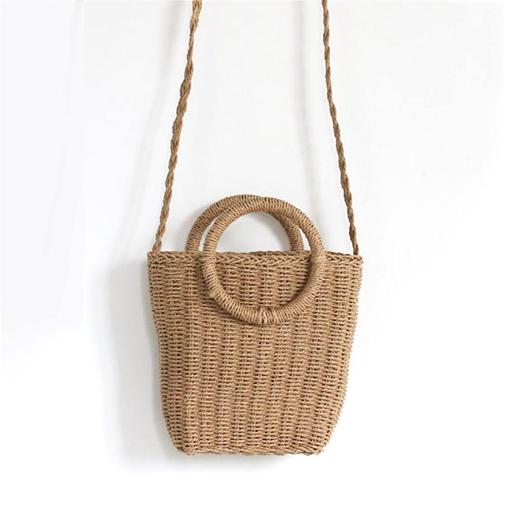 Bohemian Style Fashionable Handmade Handbag Simple Natural Straw Bag Crossbody Woven Beach Bag For Women Brand NewBohemian Style Fashionable Handmade Handbag Simple Natural Straw Bag Crossbody Woven Beach Bag For Women Brand New