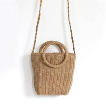 Bohemian Style Fashionable Handmade Handbag Simple Natural Straw Bag Crossbody Woven Beach For Women Brand New