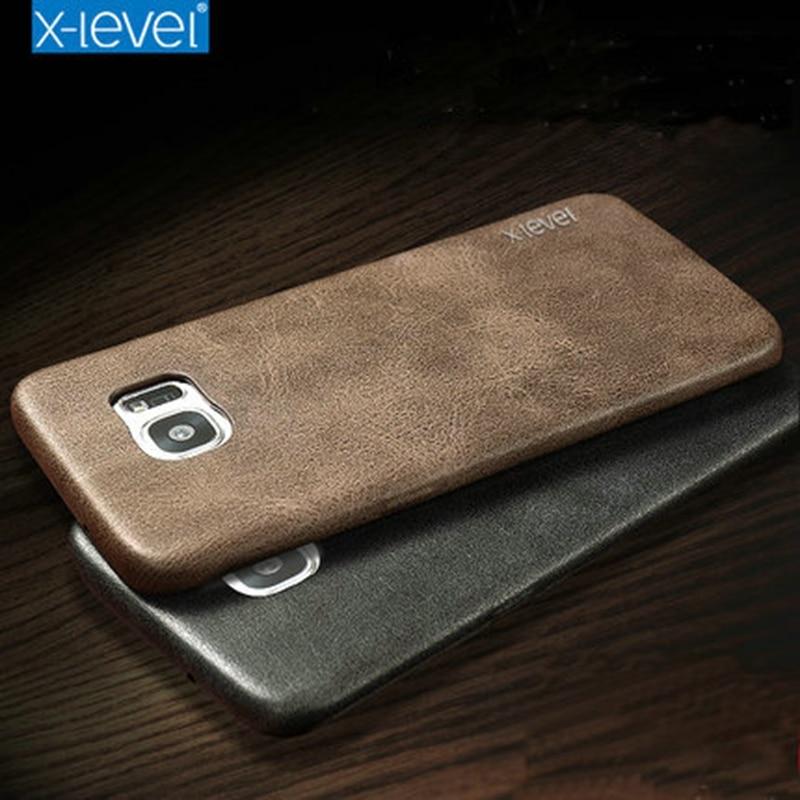 X-Niveau Brand New PU Étui En Cuir Pour Samsung Galaxy S7 Bord retour Housse pour Samsung S7edge G935 G935F Vingate Étui En Cuir