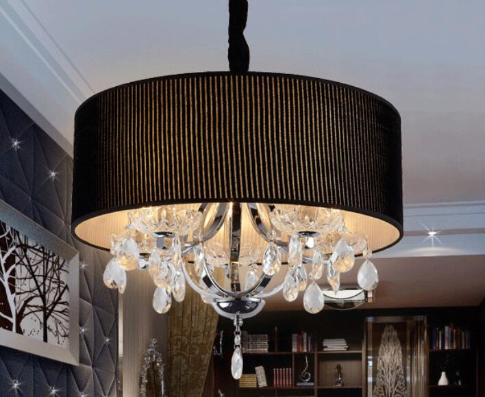 Crystal round warm cloth pendant lights Bedroom restaurant living room lamps hotel decorations lighting lamps ZAG a1 master bedroom living room lamp crystal pendant lights dining room lamp european style dual use fashion pendant lamps