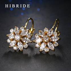 Hibride 2017 luxury fashion austrian crystal earrings rose gold color engagement hoop earring girls gifts e.jpg 250x250