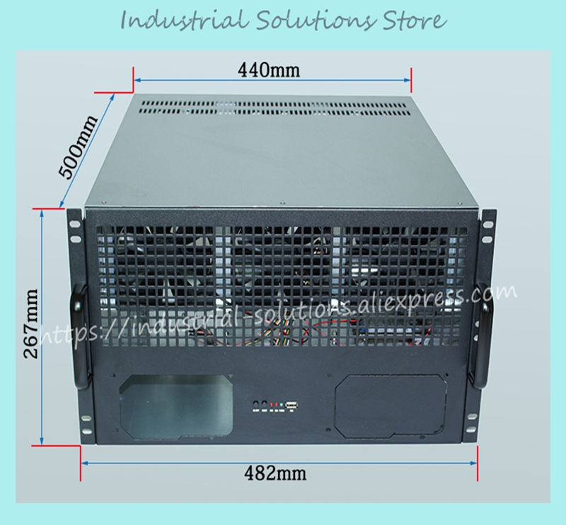 mining case 6U ETH ETC ZEC XM Ethernet multi GPU 6 Graphics dual ATX dual power multi card chassis Chassis 500 *440 *267mm vg 86m06 006 gpu for acer aspire 6530g notebook pc graphics card ati hd3650 video card