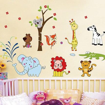 ღ Ƹ̵̡Ӝ̵̨̄Ʒ ღLindo Zoo PVC lindo animales sala de niños etiqueta de ...