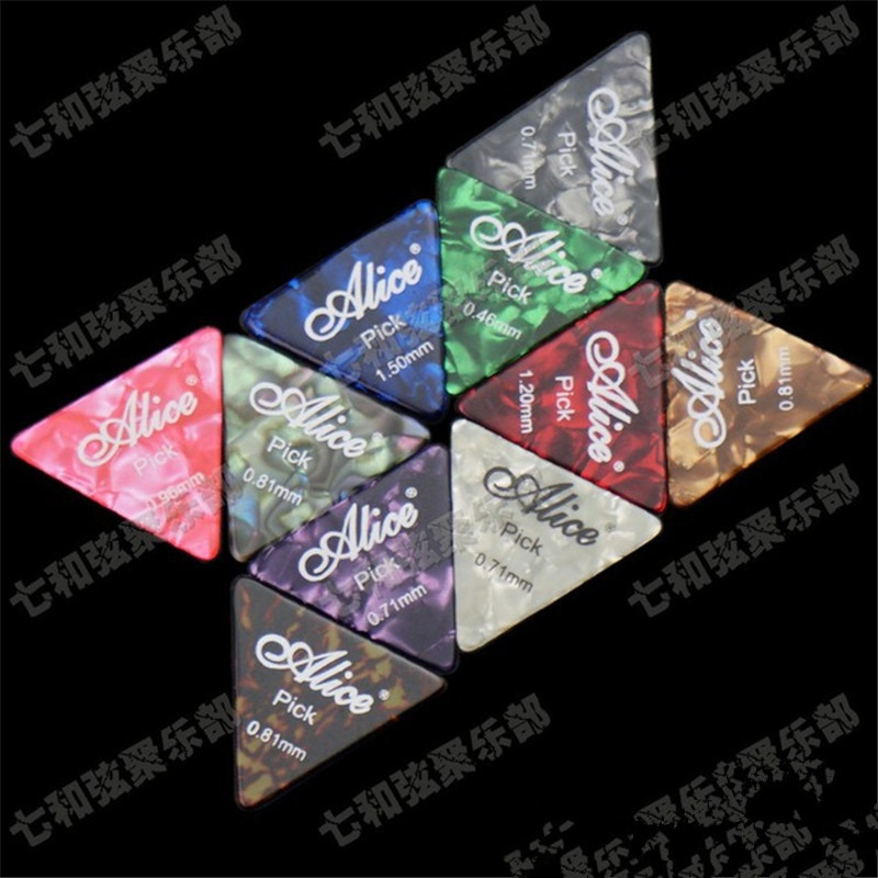 20 Pcs Mix Color Big Triangle Celluloid Guitar Picks Plectrum (Please give us Thickness choice message)