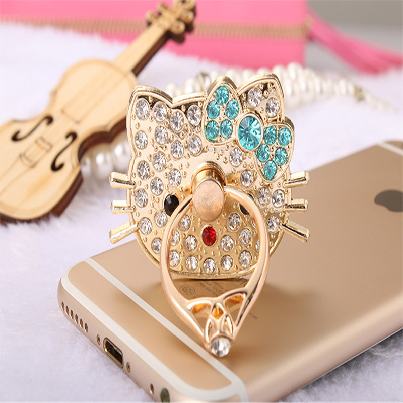 VBNM Universal 360 Rotating Cartoon Diamond Mobile Phone Accessories Holder Stand Finger Ring For Iphone Xiaomi All Smart Phone