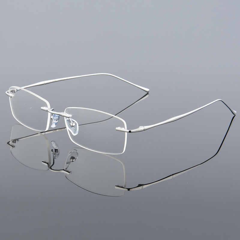d92c4324166 ... Reven Jate 632 Rimless Men Eyeglasses Frame Optical Prescription  Glasses for Man Eyewear Fashion Rimless Spectacles ...