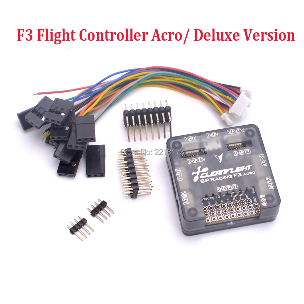 SP Racing F3 Flight Control Acro 6 DOF / Deluxe 10 DOF for for Mini 180 210 250 Floss 210 Quadcopter Better than Naze32/ Flip32 original naze32 rev6a mpu6500 32 bit 6 dof 10 dof flight controller for multicopter
