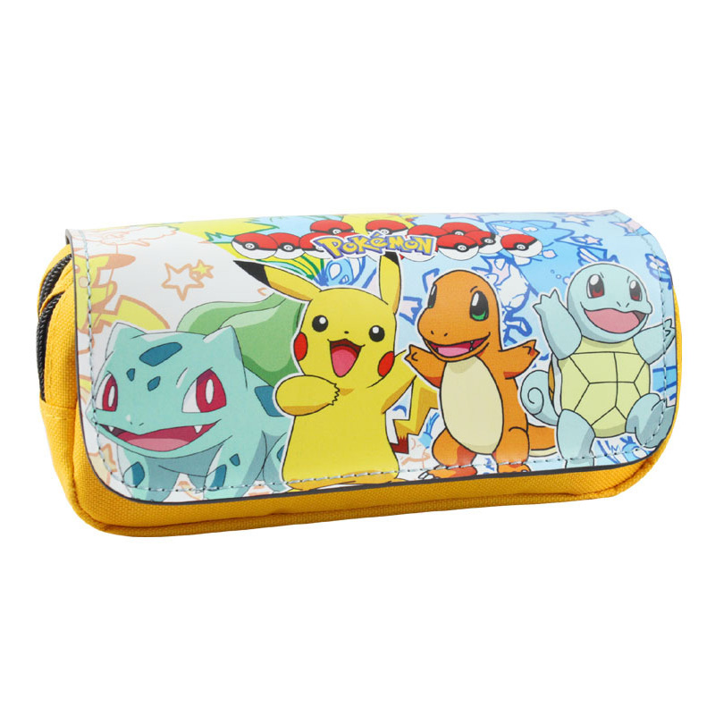 Pokemon Go Purse Pocket Monster Pen Pencil Wallets Cartoon Anime Kawaii Pikachu Stationery Children Leather Case Box Bags Pouch pu leather cartoon pikachu short purse children gift pocket monster wallet pokemon go geme