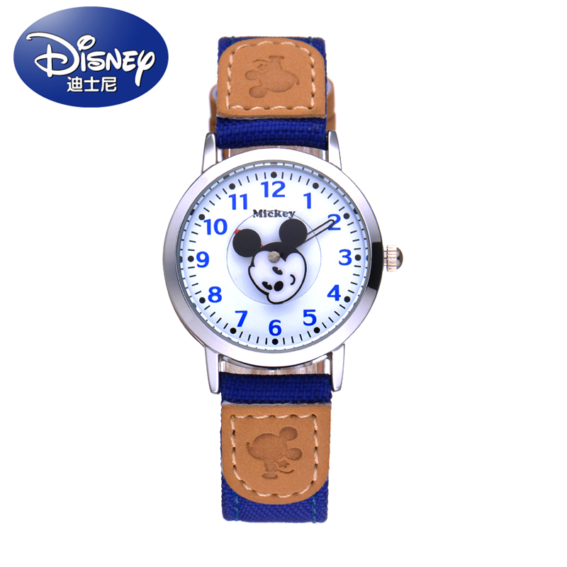 Disney New Children Mickey Cartoon Watches Fashion Boy Kids Student Cute Leather Sports Analog Wrist Watches Relojes